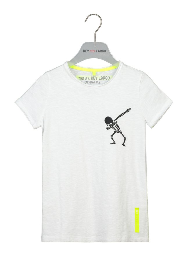 BT FASTER  - Print T-shirt - white