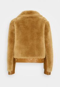 Coach - SHEARLING JACKET - Leather jacket - caramel - 1