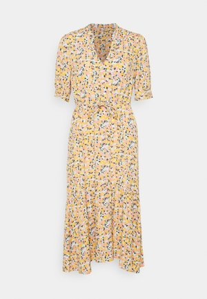 DRESS BOUQUET PRINT - Skjortekjole - yellow
