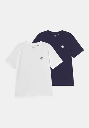 2 PACK - Basic T-shirt - navy/white