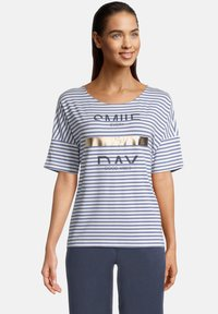 Betty & Co - Print T-shirt - weiß/blau - 0