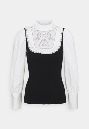 COLADA HYBRID - Long sleeved top - black