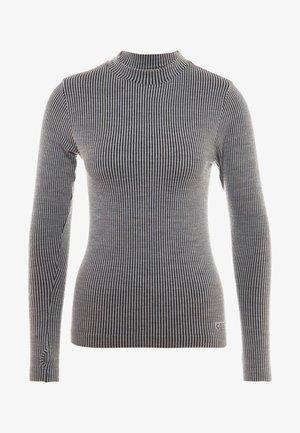 LONG SLEEVE - Long sleeved top - black/grey