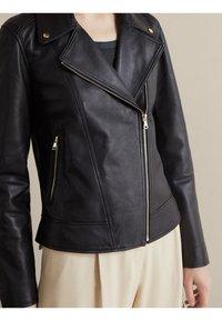 Massimo Dutti - NAPPA - Leather jacket - black - 3