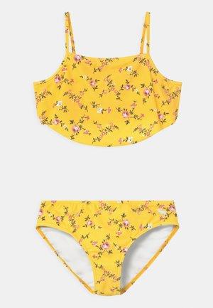 RUCHED KEYHOLE SET - Bikini - yellow