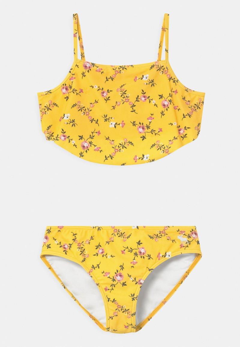 Abercrombie & Fitch - RUCHED KEYHOLE SET - Bikini - yellow