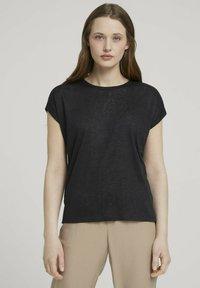TOM TAILOR DENIM - Basic T-shirt - deep black - 0
