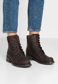 Clarks - ORINOCO SPICE - Lace-up ankle boots - dark brown - 0
