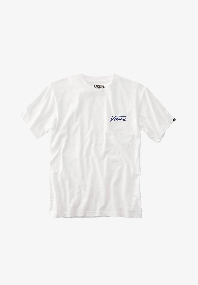 MN ISLAND DAZED SS - T-shirt con stampa - white