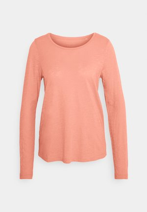 LONG SLEEVE ROUND NECK - Top s dlouhým rukávem - fruity salmon