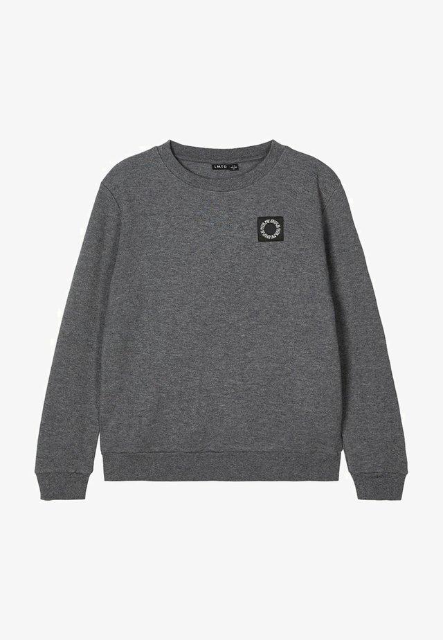 RUNDHALSAUSSCHNITT - Sweatshirt - dark grey melange