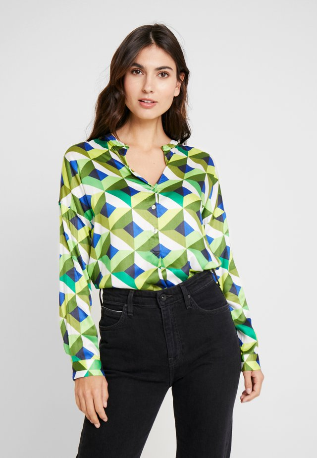 Blouse - multicolour green