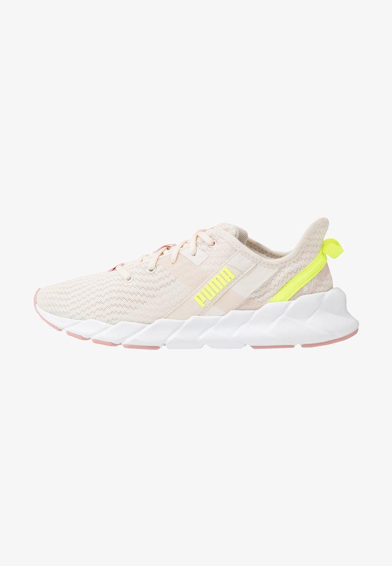 Puma - WEAVE XT SHIFT - Sports shoes - pastel parchment/white