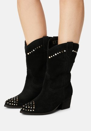 WIDE FIT AZRA - Cowboy/Biker boots - black