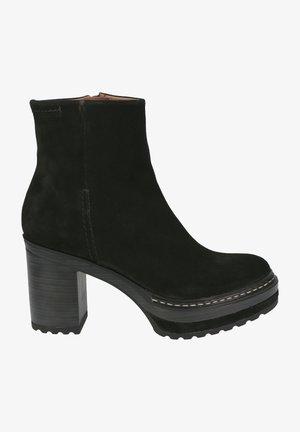 High heeled ankle boots - schwarz