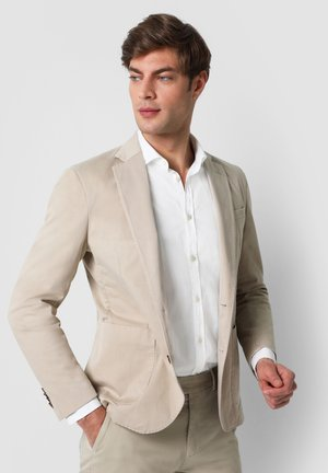SLIM FIT  - Blazer jacket - beige