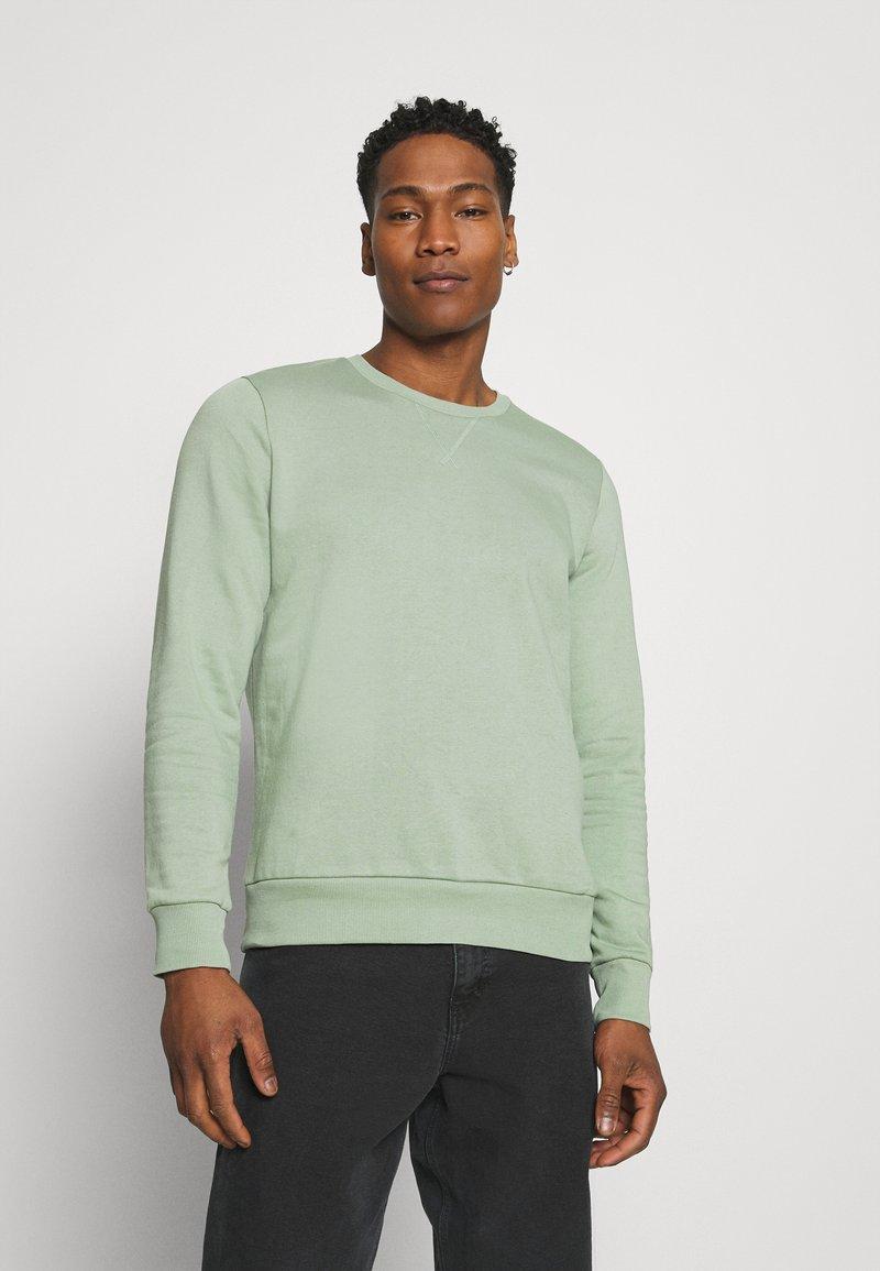 Brave Soul - Collegepaita - mint green/light grey marl