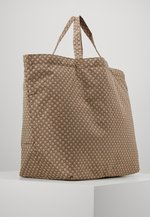 TRAVEL TOTE BAG - Tote bag - beige/black