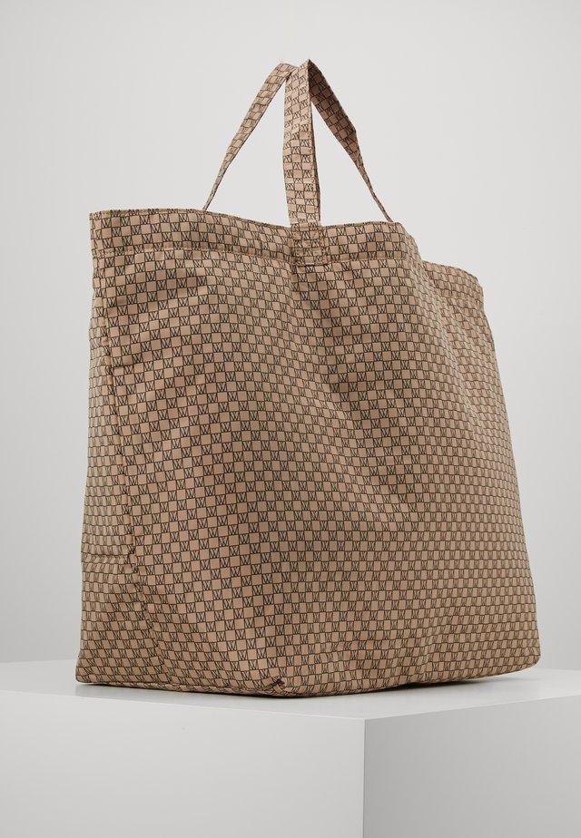TRAVEL TOTE BAG - Shopping bags - beige/black