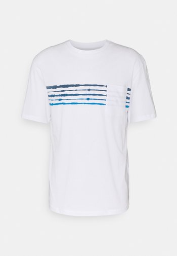 JORSHIBORI TEE CREW NECK - Print T-shirt - white