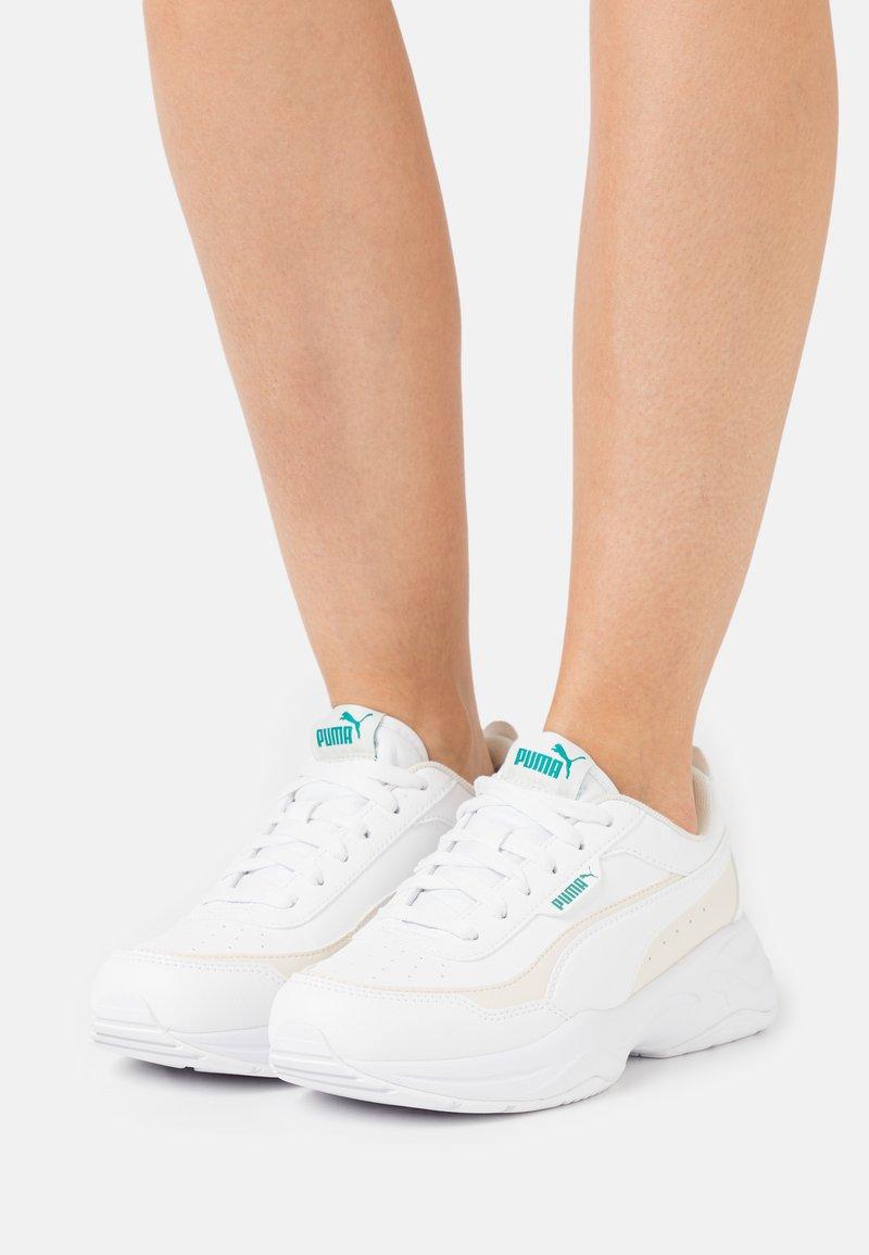 Puma - CILIA MODE - Trainers - white/eggnog/parasailing