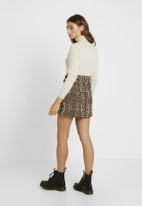 Topshop - ABSTRACT - A-linjekjol - brown - 2
