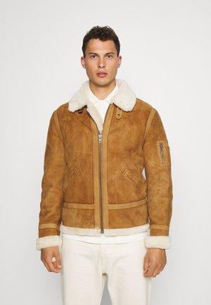 KENNEDY - Leather jacket - camel