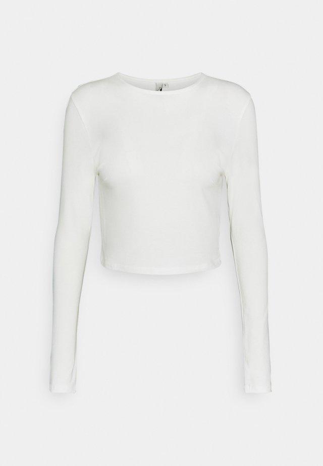 PERFECT CROPPED - Top sdlouhým rukávem - white