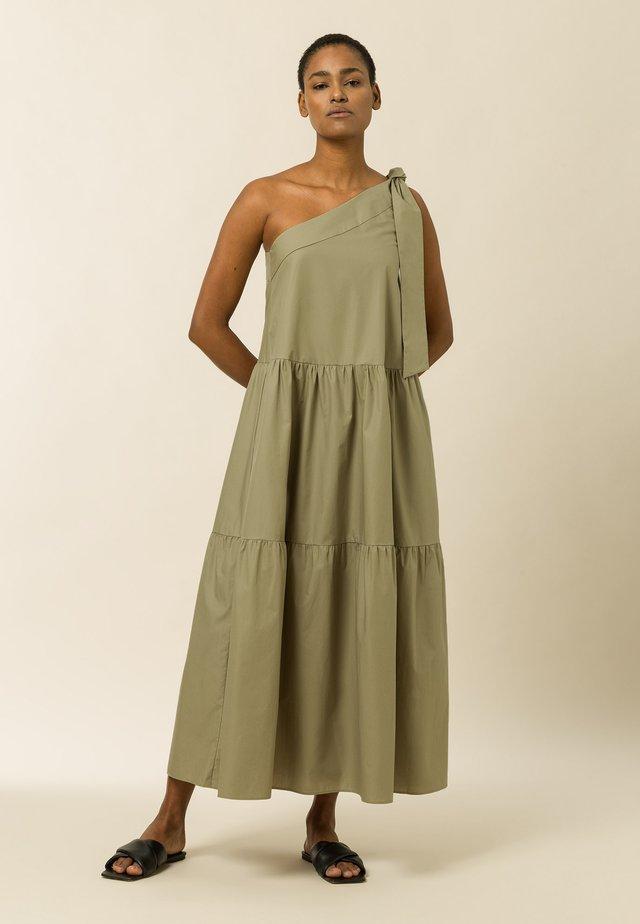 Maxi šaty - sage green