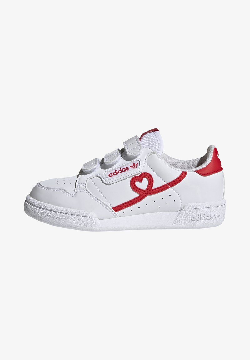 adidas Originals - CONTINENTAL 80 SHOES - Baskets basses - footwear white/vivid red
