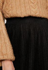 Anna Field - A-line skirt - metallic black - 4