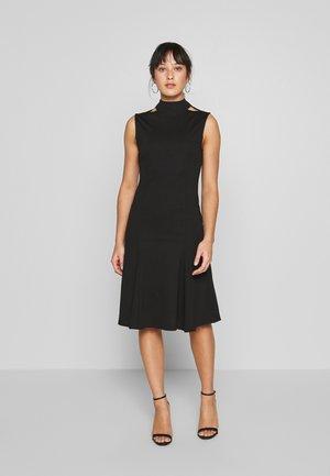 SLEEVELESS FISHTAIL BODYCON DRESS - Vestido ligero - black