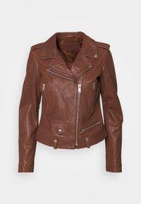 MICHELLE BIKER - Leather jacket - bruschetta