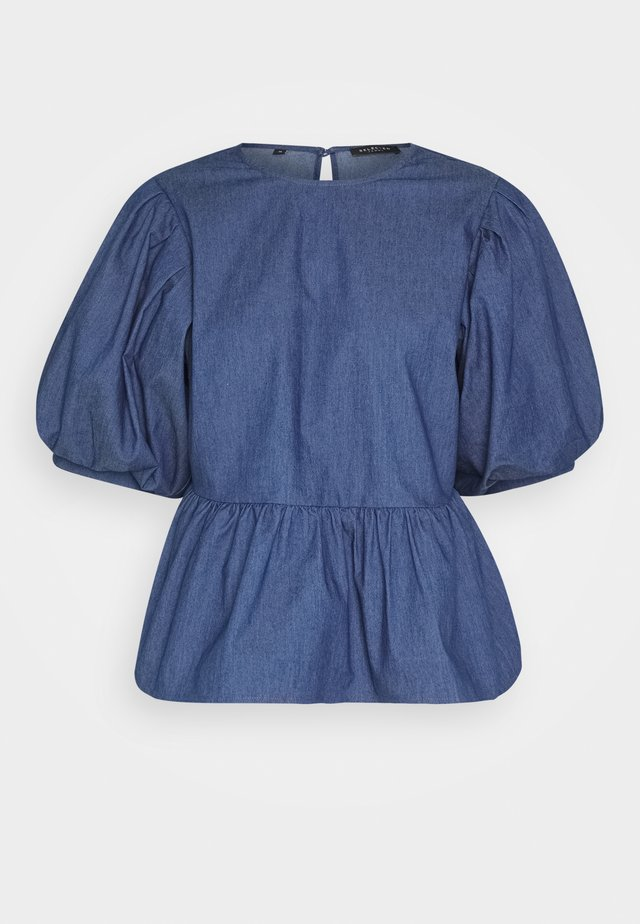 MARINA - Blouse - medium blue denim