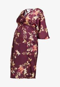 Hope & Ivy Maternity - KIMONO DRESS - Denní šaty - bordeux - 4