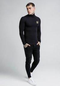 SIKSILK - ROLL NECK LONG SLEEVE - Camiseta de manga larga - black - 1