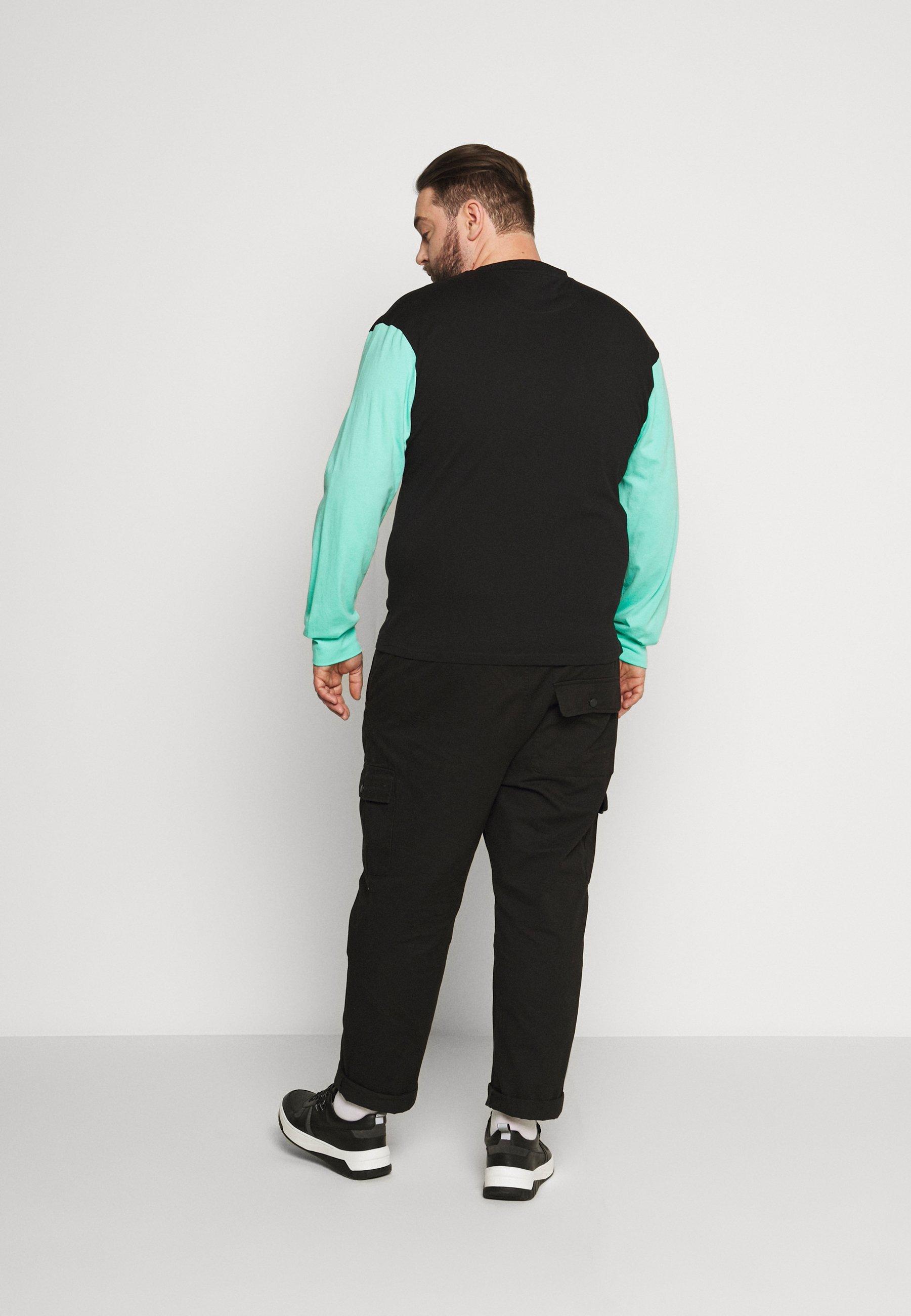 Common Kollectiv PLUS MOTIV LONGSLEEVE - Long sleeved top - black MYqHL