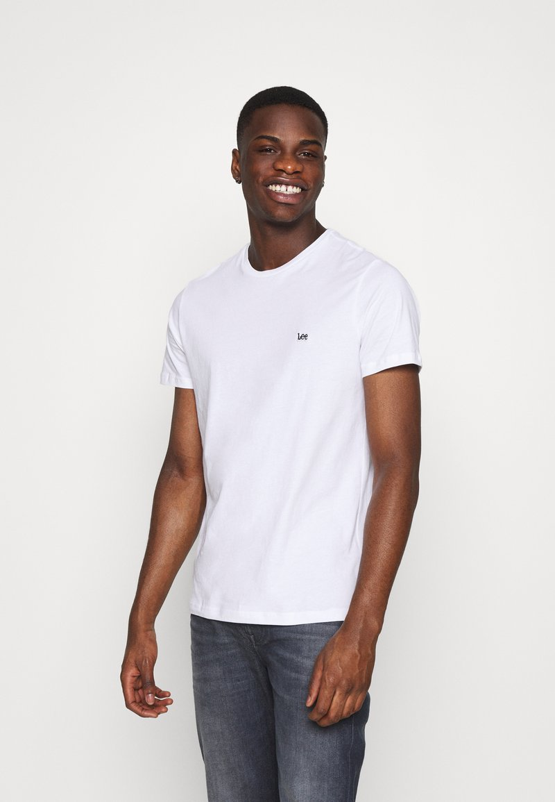 Lee - PATCH LOGO TEE - T-shirt - bas - white