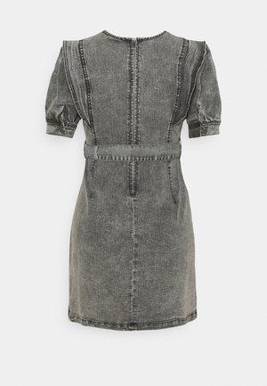 NMLISA PUFF SLEEVE DRESS - Jersey dress - medium grey denim