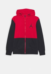 Jordan - JUMPMAN AIR UNISEX - Mikina na zip - black/gym red - 0