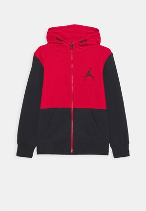 JUMPMAN AIR UNISEX - Felpa aperta - black/gym red