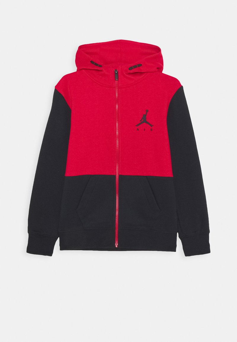 Jordan - JUMPMAN AIR UNISEX - Mikina na zip - black/gym red