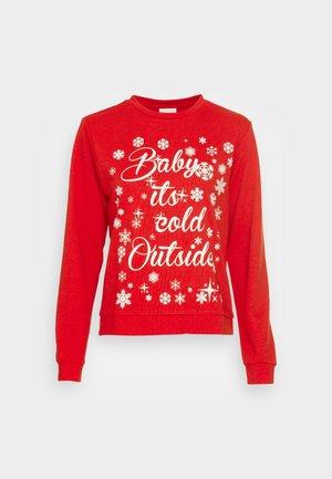 VICOLD CHRISTMAS  - Sweatshirt - mars red