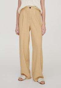PULL&BEAR - Trousers - beige - 0