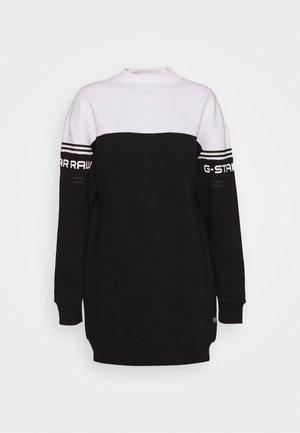 BILBI BLOCK FUNNEL SW DRESS WMN LS - Vestito estivo - black/white