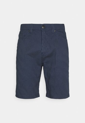 STRIPE - Shorts - navy white