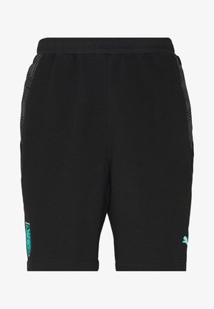 ÖSTERREICH ÖFB CASUALS SHORTS - Sports shorts - black/blue turquoise