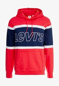 Levi's® - PIECED HOODIE - Hoodie - racer colorblock brilliant red/ white /  blues - 3