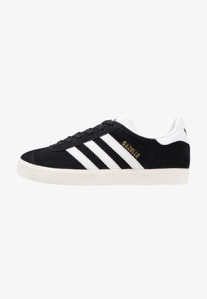 GAZELLE - Baskets basses - core black/white/gold metallic