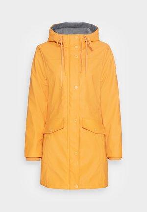PADDED RAINCOAT - Vodotěsná bunda - golden pumpkin